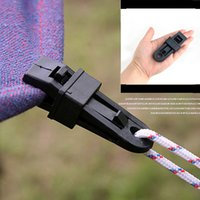 Wholesale Big Tents Camping - Tent Fixed Buckle Big Alligator Clip Tent pull point Clip Hook Buckle Tent Accessories Outdoor Tools Camping Travel Kits