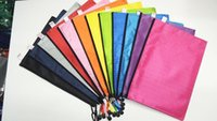 Wholesale File Zipper - A4   A5   A6 football pattern file bag zipper bag Oxford cloth student bag can be customized LOGO