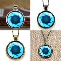 Wholesale photographer gifts - 10pcs portal valve glados aperture science Pendant Gift for Photographer Necklace keyring bookmark cufflink earring bracelet