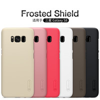 Wholesale Samsug Galaxy - phone case For Samsug Galaxy S8 NILLKIN Super Frosted Shield with free screen protector and retailed package