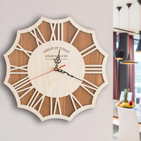 Wholesale Living Room Wall Hanging Modern - Wooden Wall Clocks Murals Designs Simple Europe Style Living Room Bedroom Hanging Wall Clocks Silent Second Movement