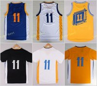 Wholesale Road Chinese - Hot Sale 11 Klay Thompson Jerseys Shirt Uniform Rev 30 Christmas Chinese Jersey Home Road Blue White with sleeve Black Stitched With Name