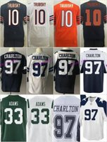 Wholesale 2017 Draft Pick Taco Charlton Blue White Thanksgiving Men Jamal Adams Mitchell Trubisky Orange Men Women Youth Kid Jerseys American