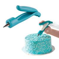 Wholesale Cake Decorating Icing Pens - PHFU Nozzles Set Tool Dessert Decorators Cake Decorating Icing Piping Cream Syringe Tips Muffin Cake Pastry Pen Bag