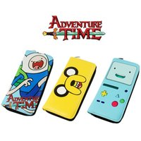 Wholesale Passport Times - Adventure Time Wallets cosplay Finn and Jake BMO Beemo cute Purse cartoon Toy Zipper Long Wallet money bags Kids Gifts