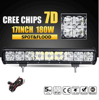7D 180W 17inch LED Offroad Licht Bar CREE Chips Combo Beam Led Arbeit Licht Bar Fahrlampe für LKW SUV ATV 4x4 4WD 12v 24v