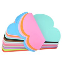 Wholesale Meal Pad - 47.5*27*0.3Cm New Arrival Kids Meal Pads Cute Clouds Shape Kithchen Holder Waterproof Non Slip Heat Resistant Placemats Portable Dinnerware