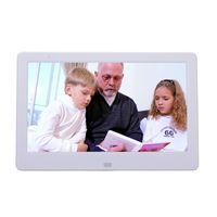 Wholesale Digital Photo Video Inch - Wholesale-Digital photo frame 10 inch HD TFT-LCD porta retrato electronic Alarm Clock MP3 4 Video Movie Player elektronischer bilderrahmen