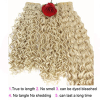 Wholesale Medium Blonde Curly Hair Extensions - Fashion key Water Wave Hair Extension synthetic Hair Weave Weft kinky Curly weave Bundles 3pcs lot Natural Color Dyeable SF130