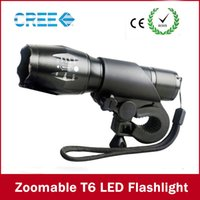Wholesale Holder Flashlight Head - New Bicycle Flashlight Bike Head Front Light E17 3800Lumen XM-L T6 LED Flashlight Frontal Lanterna with Mount Waterproof Lamp+Torch Holder