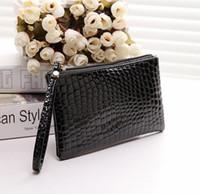 Wholesale Coin Purses Handle - 2017 PU soft noodles handle bag Han edition mobile phone package Zero wallet Ziplock bag 19*11cm