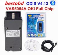 Wholesale Diagnostic Czech - Perfect set ODIS 4.14 VAS 5054A OKI Full Chip VAS 5054A Bluetooth USB VAS 5054 A Supports UDS Protocol Car Diagnostic Tool