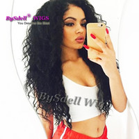 Preço por atacado Long Curly Lace Front Wig Resistente ao calor High Ponytail Deep Curl Sintético Lace Front Wigs With Baby Hair