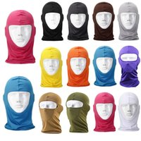 Wholesale Fitted Tactical Hats - 2017 New Thermal Fleece Balaclava Warm Winter Cycling Ski Neck Masks Hoods Paintball Hats Motorcycle Tactical Full Face Mask Sca