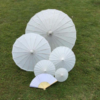 Wholesale bridal wedding parasols White mini paper umbrellas Chinese mini craft umbrella Diameter cm wedding favor decoration