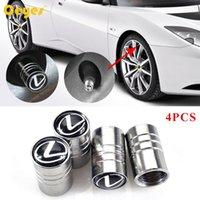 Wholesale Lexus Car Emblem - Car Wheel Tire Valves Tyre Stem Air Caps Cover for lexus rx300 is250 Car Tire Valves Accessories Emblems Car Styling