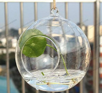 Wholesale Air Plants Free Shipping - Dia Clear Glass Ball Hanging Air Plant Terrarium Wedding Candlestick Tealight Holders for wedding Home free shipping MYY
