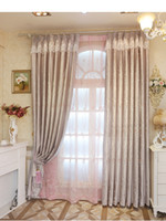 Wholesale New arrival Pink European floral embroidered window blackout curtain for girl princess children s bedroom living room fabric