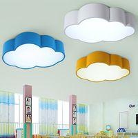 dormitorio de niñas luz de techo al por mayor-Luz de techo para bebés con luz de techo para niños en la nube LED con luz de techo para niños en color amarillo azul rojo para niños niñas accesorios para el dormitorio