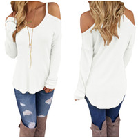 Wholesale FGirl Women Sweaters and Pullovers Women s Sweater Cold Shoulder Knit Long Sleeves Sweater FG21618