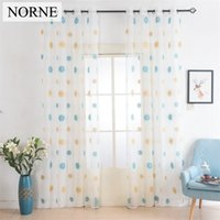 Wholesale Norne European White Embroidered Voile Curtains Bedroom Sheer Curtains curtain for Living Room Tulle Window Curtains Window Panels