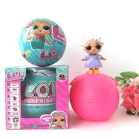 Wholesale Big Plastic Dolls - 2 Function Spray Water Discolor LOL Surprise Doll Ball Toys 10cm Diameter L.O.L kids Ball Toy For Christmas Gifts
