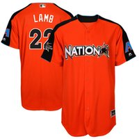 Wholesale Home Lamb - Men's National League 22 Jake Lamb Majestic Orange 2017 MLB All-Star Game Home Run Derby Player Jersey