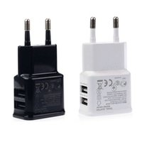 Wholesale New Wall Chargers For Iphone - New Universal Dual USB EU plug 5V 2A Wall Travel Power Charger Adapter for Iphone and Anriod Smartphone.5% off promotion for 2 Pcs.