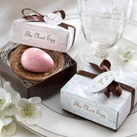 Wholesale Nest Soap - Free shipping The Birds Nest Egg Scented Soap Wedding Favor Wedding Gifts Party Favor Baby Shower Favor WA2013