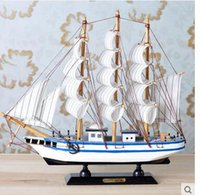 Wholesale Wooden Carvings Wall Art - USA sailing wooden ship model room sitting room adornment wall act the role ofing furnishing articles Birthday gifts crafts