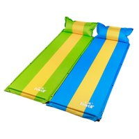 Wholesale Automatic Inflating Mattress - Wholesale- Hewolf New Automatic Inflatable Mattress Self-Inflating Moistureproof Picnic Tent Mat With Pillow Outdoor Camping Mat Pad