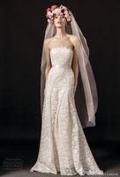Wholesale Modify Dress - romantic modified full lace wedding dresses 2018 temperley london strapless straight across neckline a line sweep train