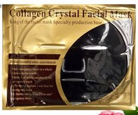 Wholesale black sea mud mask for sale - Group buy New Fashion Black Collagen Crystal Facial Mask Beauty Skin Dead Sea Mud Deep Cleaning