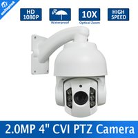 Wholesale Ptz Dome Cameras - 4'' Mini Speed Dome 1080P CVI PTZ Dome Camera 2.0MP OSD Meun 5-50mm 10x Zoom Outdoor Waterproof IR 70M Support CVR DVR
