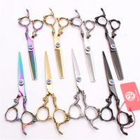 "Wholesale hairdressing scissors wholesale - 2Pcs 6"" Japan 440C Laser Professional Human Hair Scissors Cutting or Thinning Shears or set reguler Barber""s Hairdressing Style Tools Z9003"
