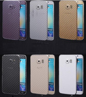 3D Carbon Fiber Full Body Front Back Film Sticker Cover Cover Wrap Skin para Samsung Galaxy S6 edge plus S7 para Iphone 6 6S Phone Case 100pcs