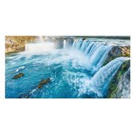 malen teppich großhandel-Wasserfall Malerei rutschfeste Boden Aufkleber Geometrische Wasserdichte Tragbare PVC Teppich 2017 Mode DIY Wohnkultur Studienzimmer Schmuck