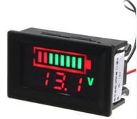 testador de bateria de chumbo venda por atacado-12 V Baterias de Chumbo Ácido LED Indicador de Capacidade Da Bateria Testador Digital Voltímetro New Tool Parts