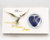 Wholesale wish pearl kit resale online - Hot Gift Love Wish Pearl Kit Heart Cage quot chain Necklac Eagle white