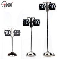 Wholesale Decorative Rods - Wholesale-MIAO KE Retractable Rod Decorative Style Flip Clock Balance Clock Series Digital Fashion Room Decor Clock Movement Sweep 23