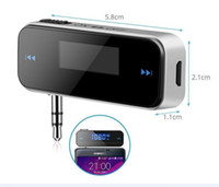 Wholesale Wireless mm Electronic In car Car FM Transmitter LCD Stereo Audio Player For iPhone s Samsung Galaxy HTC LG MP3 MP4