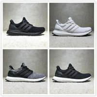Wholesale Floor New Shoes - New ADIDAS Ultra Boost 4.0 ub Triple Black and White Primeknit Oreo CNY Men Women Running Shoes Ultra Boosts ultraboost sport Sneaker