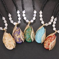 Wholesale Newest Crystal Necklaces Jewelry Fashion Women Crystal Pendant necklace Jewelry Necklace Pendant Mix Colors