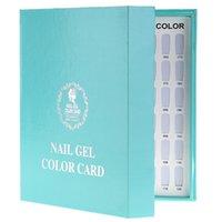 Wholesale Show Salon Tips - Nail Art Tools Showing Shelf 1Pcs Pro Salon 120 Colors Nail Art Gel Polish Tips Form Stick Card Book Gel Polish Showing