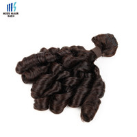 Wholesale Remy Human - 1 Bundle Bouncy Curl Funmi Hair Weave Bundles High Quality Virgin Remy Human Hair Extensions 10-24 inch Kiss Hair Fashion Style
