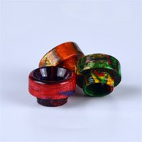 Top Rated Epoxy Resin Drip Tips Buzinas de boca larga para Goon 528 LP RDA Atomizer Tank DHL Free