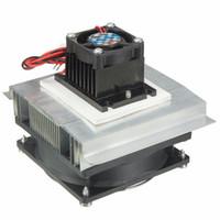 radiador 12v ventiladores al por mayor-Al por mayor-Termoeléctrico Peltier Refrigeración Refrigeración Cooler 12V Ventilador Radiador Peltier TEC1-12706 Sistema de disipador de calor Kit para computadora