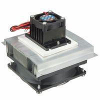 Wholesale 12v Radiator Fan - Wholesale- Thermoelectric Peltier Refrigeration Cooling Cooler 12V Fan Radiator Peltier TEC1-12706 System Heatsink Kit for Computer