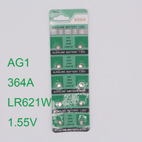 Wholesale Battery Ag1 - Wholesale- 30pcs Watch Button Battery AG1 364 LR621 CX60 SR621SW 1.55V Alkaline Watch Coin Cell Battery batterie orologio