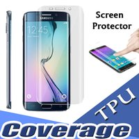 Wholesale Edge Protectors For Shipping - For Samsung S8 Coverage TPU Clear Anti-Shock Full Cover Curved Part Screen Protector for iPhone 7 Plus 6S Samsung S7 S6 Edge Free Shipping